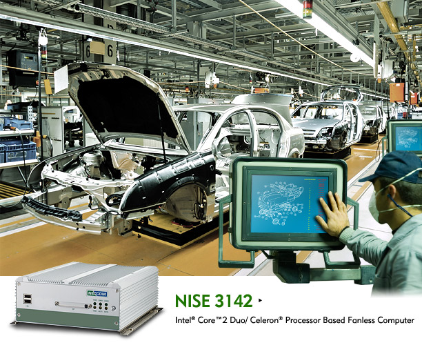 Fanless Computer NISE 3142 Sweeps Dual Display Applications